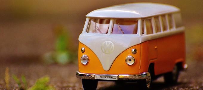 ワーゲンバスの模型です